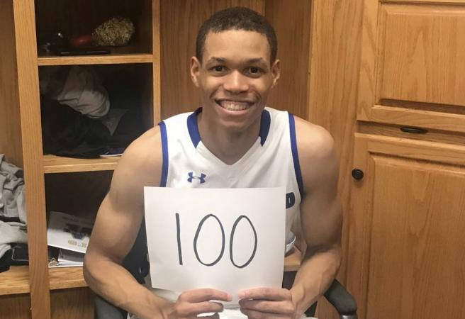 NBA player's brother scores 100 points in college game
