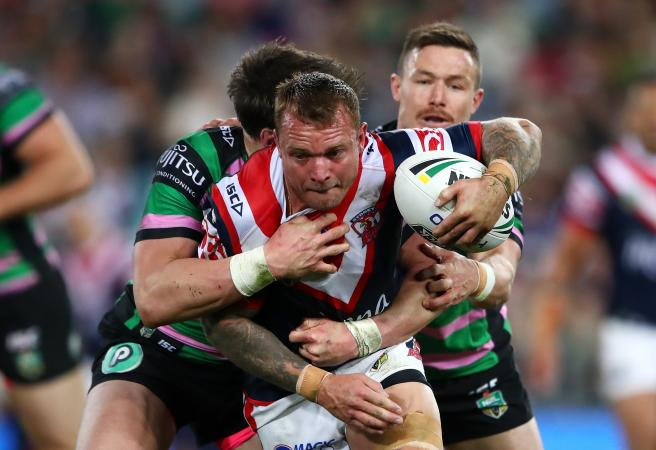 Roosters topple Rabbitohs to climb to top of NRL ladder