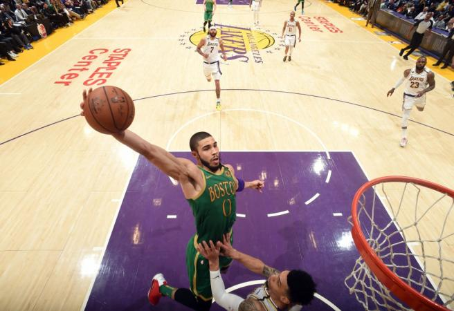Jayson Tatum becomes youngest Celtic to score 40 points against the Lakers
