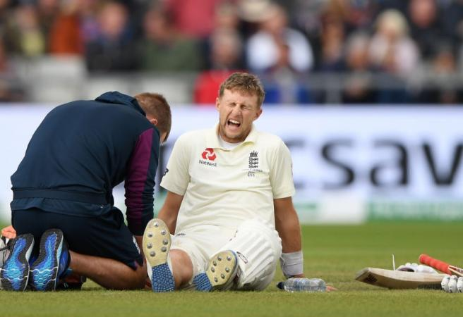 WATCH: England captain hit where it hurts the most