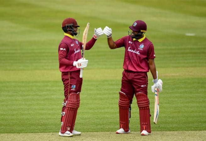 West Indies duo dominate in record-breaking batting display