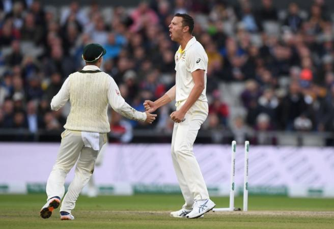 Ashes: Hazlewood delivers late to keep Aussies on top