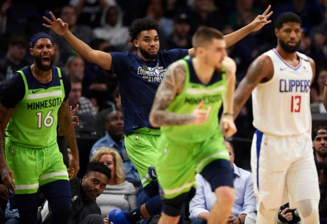 Timberwolves break record with stunning win over Clippers