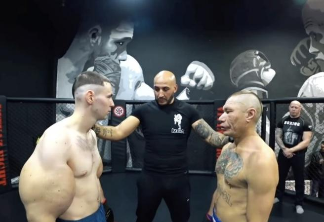 "Bodybuilder ""Popeye"" destroyed in MMA fight"