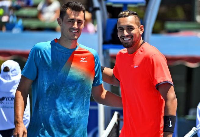 WATCH: Kyrgios vs Tomic ends in ridiculous fashion