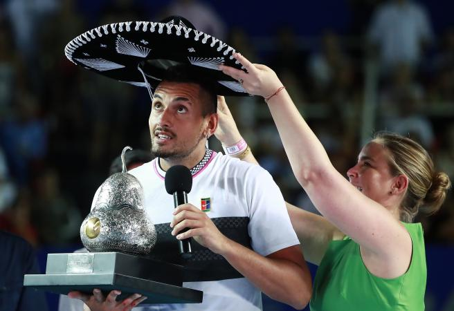 Nick Kyrgios wins the Mexican Open