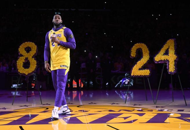 Mamba out! LeBron throws away script for Kobe tribute