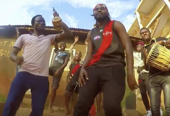 Ugandan gospel rapper remixes Essendon theme song