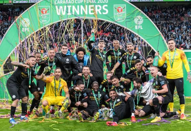 Manchester City win third-straight League Cup