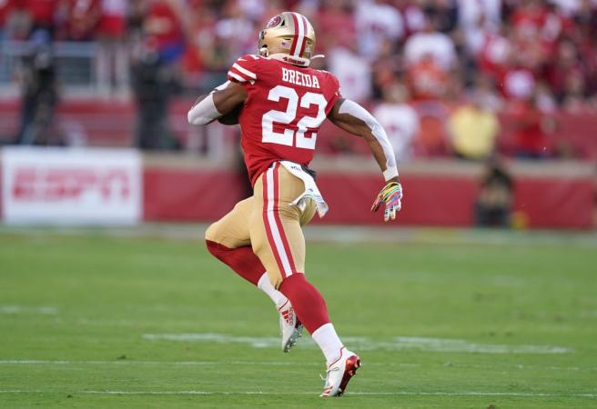 WATCH: 49ers running back hits speed of 35kph