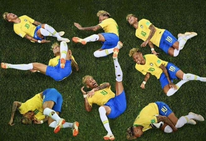 Twitter reacts to Neymar's staging