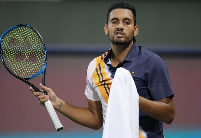 Kyrgios out after 'borderline' bizarre umpire intervention