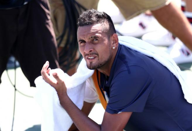 Kyrgios involved in Tennis' most bizarre moment