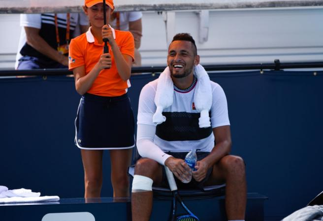 WATCH: Nick Kyrgios gets brilliant advice from fan