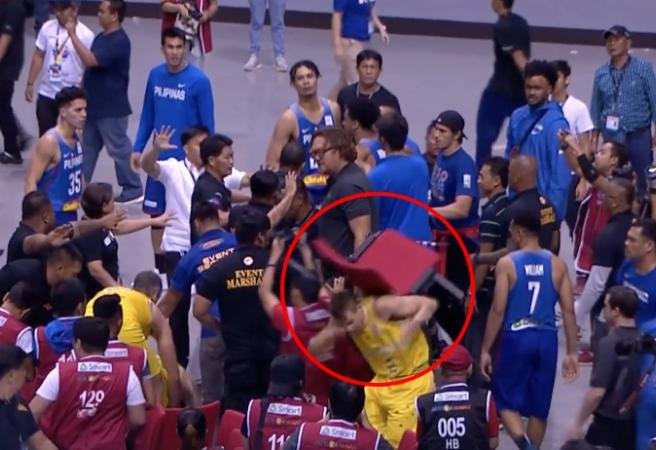 WATCH: 13 players ejected after all-in brawl between Australia and the Philippines