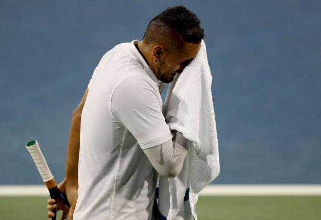 Kyrgios handed eight fines and warning after Cincinnati Masters meltdown