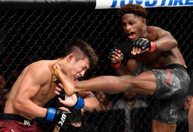 WATCH: Hakeem Dawodu wins fight with epic head kick