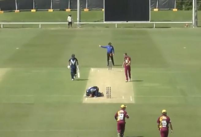 WATCH: Billy Stanlake hits Cam White with beamer