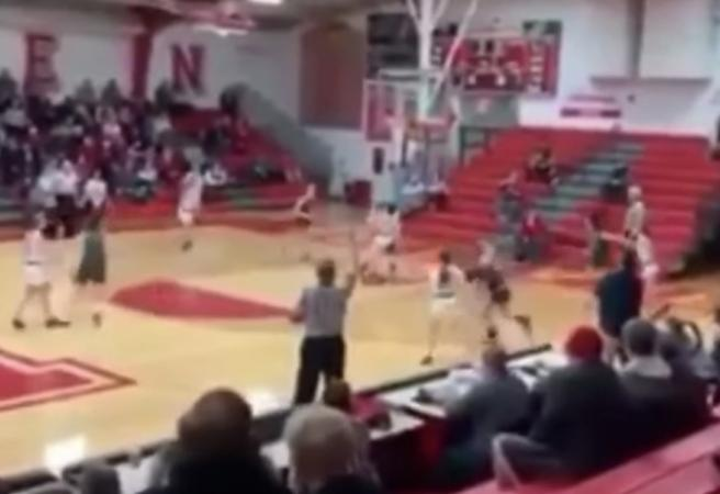 WATCH: Shocking act on basketball court causes controversy
