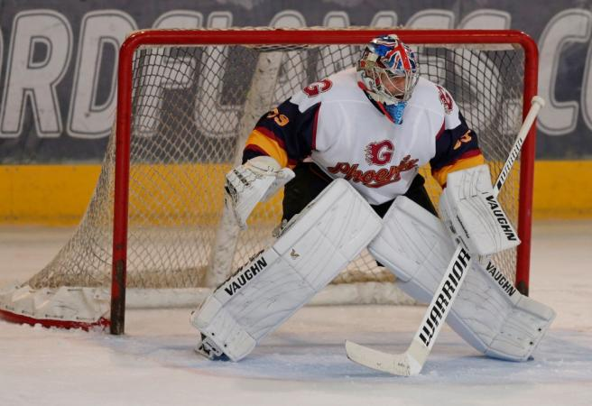 Petr Cech saves crucial penalty on Ice Hockey debut