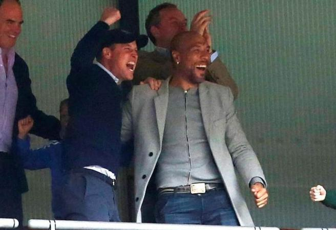 WATCH: Villa Superfan Prince William celebrates