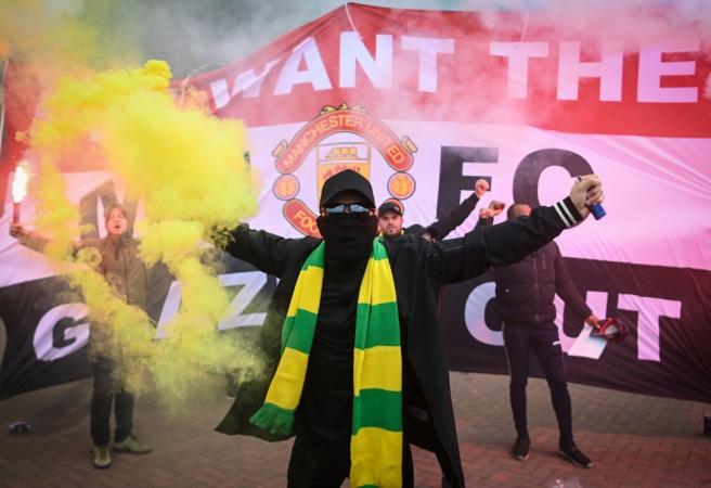 Old Trafford - Protest postpones Premier League clash
