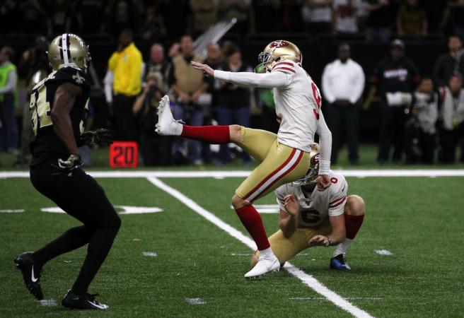 "WATCH: 49ers beat Saints in the ""game of the year"""