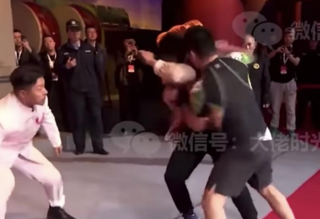 WATCH: Chinese MMA fight somehow ruled draw despite demolition