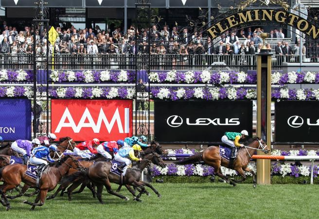 Chris Waller's Shillelagh in Empire Rose Stakes victory at Flemington