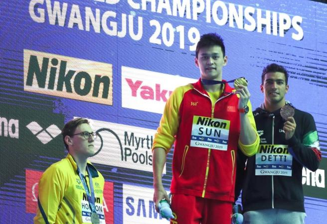 Swimming's governing body looked to protect controversial swimmer Sun Yang