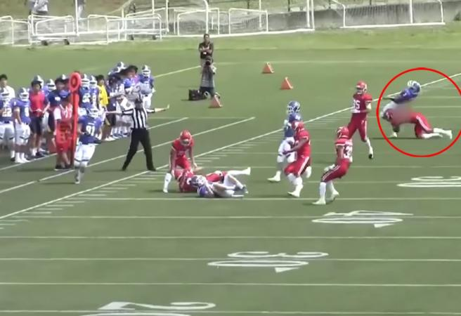WATCH: Football player in Japan quits after brutal off-ball hit