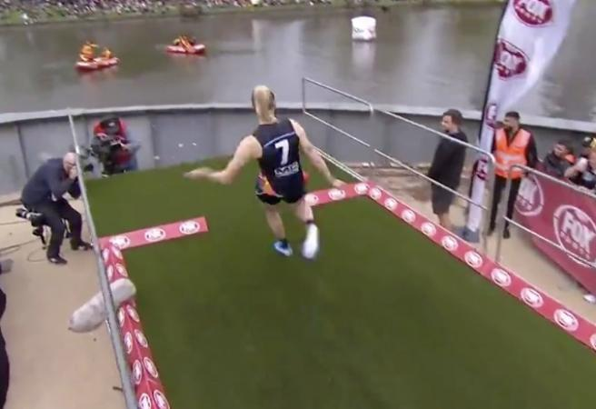 WATCH: Tayla Harris nails monster barrel to finish on the podium of the Longest Kick