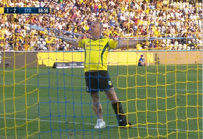 Moon boot pitch invader delivers all-time classic A-League moment