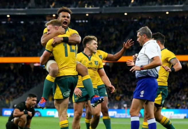 Wallabies stun All Blacks in record-breaking victory