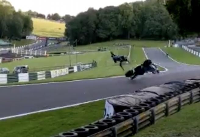WATCH: Superbike rider okay despite horror crash