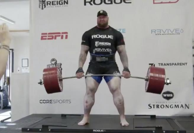 WATCH: The Mountain from 'Game of Thrones' breaks deadlift world record