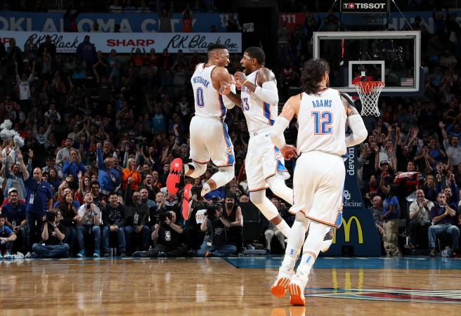 Paul George and Russell Westbrook put on ridiculous display