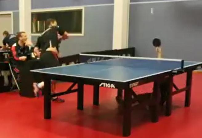 Norwegian Good: Teenager delivers all-time table tennis highlight