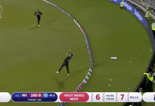 WATCH: Stunning Trent Boult catch wins the game