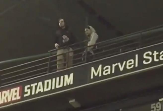 WATCH: AFL fan spits on crowd at Marvel Stadium