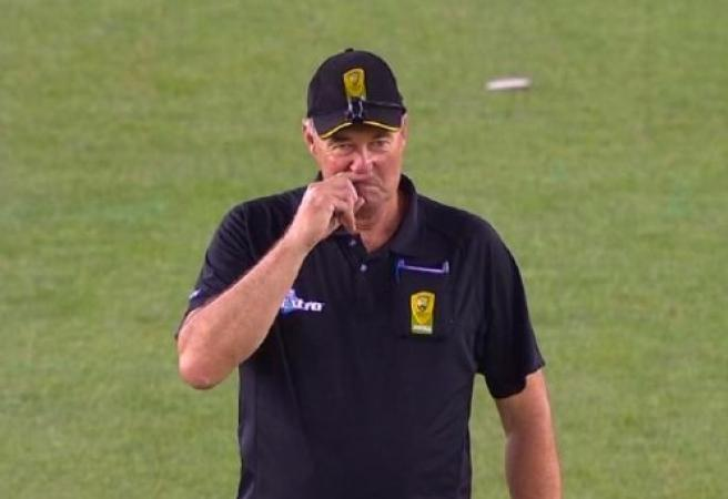 WATCH: Umpire's itchy nose not-out