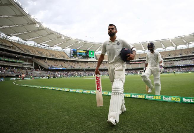 Kohli hits back: Indian skipper bears down on Perth ton