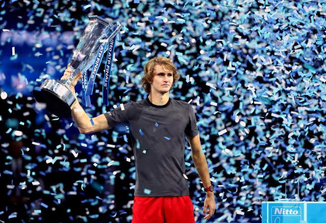 Zverev stuns Djokovic to win ATP Finals
