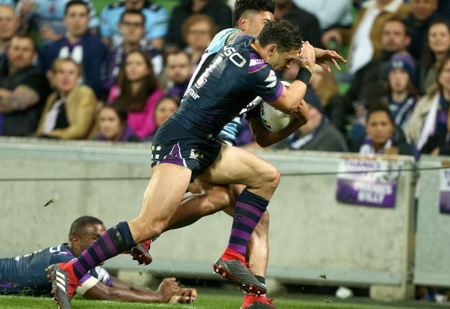 NRL Grand Final: Storm sweat on Slater shoulder charge