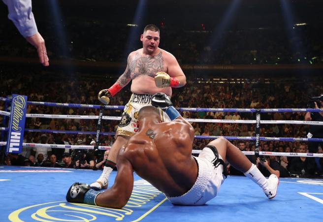 WATCH: Anthony Joshua dropped in shocking defeat