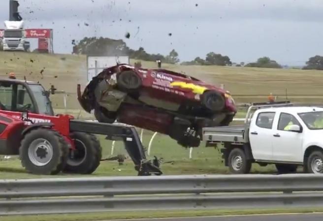 WATCH: Driver somehow walks away from shocking crash at Sandown