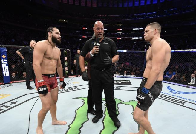 Controversial end to Diaz vs Masvidal fight