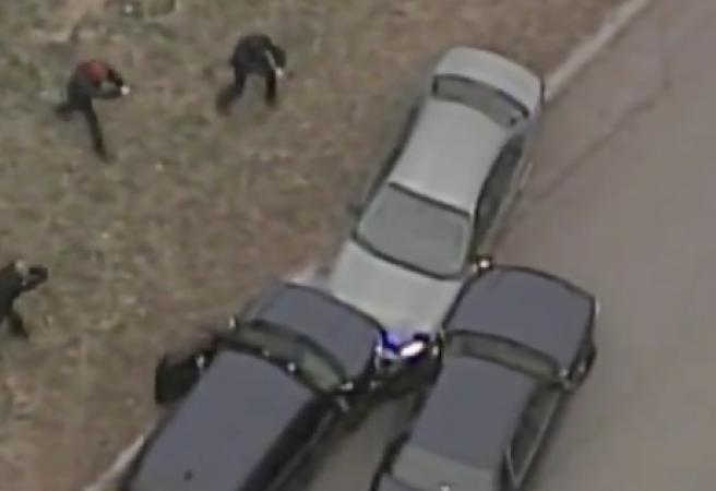 WATCH: Car chase ends on Chiefs Super Bowl parade route