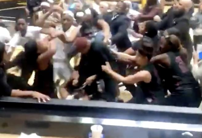 WATCH: Is this the most wild brawl in college basketball history?