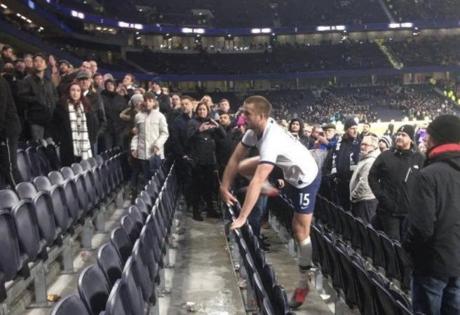 WATCH: Tottenham player goes into stands to confront fans